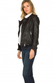 STUDIO AR BY ARMA |  Leather biker jacket Bente | black  | Picture 5