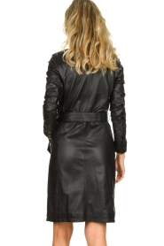 STUDIO AR BY ARMA |  Leather dress Diana | zwart  | Picture 5