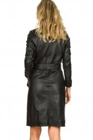 STUDIO AR BY ARMA |  Leather dress Diana | zwart  | Picture 5