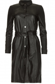 STUDIO AR BY ARMA |  Leather dress Diana | zwart  | Picture 1
