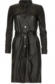 STUDIO AR BY ARMA |  Leather dress Diana | zwart  | Picture 1
