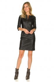 STUDIO AR BY ARMA | Leather dress Anniko | black  | Picture 3