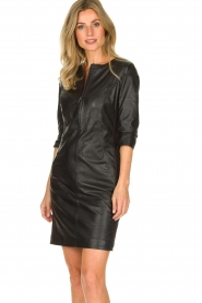 STUDIO AR BY ARMA | Leather dress Anniko | black  | Picture 4