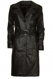 STUDIO AR BY ARMA |  Leather trench coat Era | black   | Picture 1