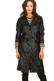 STUDIO AR BY ARMA |  Leather trench coat Era | black   | Picture 4