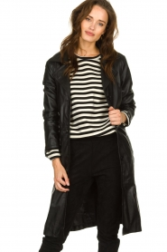 STUDIO AR BY ARMA |  Leather trench coat Era | black   | Picture 2
