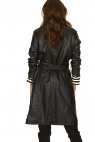 STUDIO AR BY ARMA |  Leather trench coat Era | black   | Picture 6
