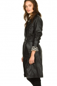 STUDIO AR BY ARMA |  Leather trench coat Era | black   | Picture 5