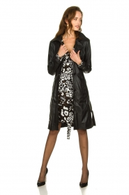 STUDIO AR BY ARMA |  Leather trench coat Era | black   | Picture 8