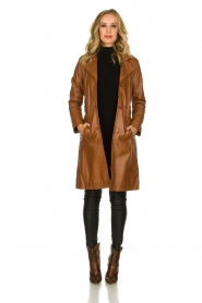STUDIO AR BY ARMA |  Leather trench coat | camel  | Picture 3