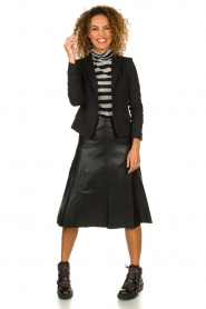 STUDIO AR BY ARMA | Leather skirt Fairchild | black  | Picture 3