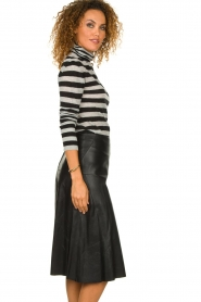 STUDIO AR BY ARMA | Leather skirt Fairchild | black  | Picture 5