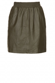 STUDIO AR BY ARMA | Leather skirt Myrte | green  | Picture 1