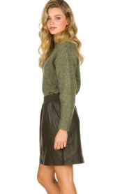 STUDIO AR BY ARMA | Leather skirt Myrte | green  | Picture 4