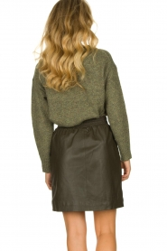 STUDIO AR BY ARMA | Leather skirt Myrte | green  | Picture 5