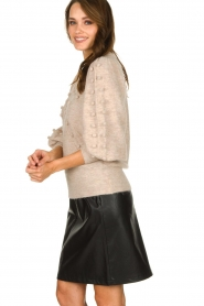 STUDIO AR BY ARMA | Leather skirt Myrte | black  | Picture 4