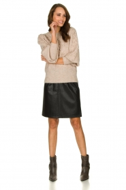 STUDIO AR BY ARMA | Leather skirt Myrte | black  | Picture 3