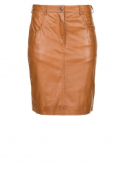 STUDIO AR BY ARMA |  Leather skirt Dua | brown  | Picture 1
