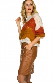 STUDIO AR BY ARMA |  Leather skirt Dua | brown  | Picture 4