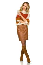 STUDIO AR BY ARMA |  Leather skirt Dua | brown  | Picture 3
