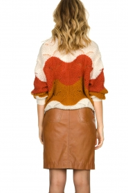 STUDIO AR BY ARMA |  Leather skirt Dua | brown  | Picture 5
