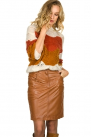STUDIO AR BY ARMA |  Leather skirt Dua | brown  | Picture 2