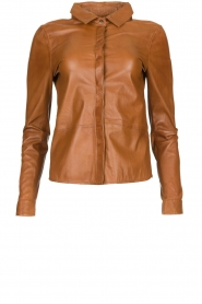STUDIO AR BY ARMA |  Leather blouse Dita | camel  | Picture 1