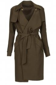 STUDIO AR BY ARMA |  Wrap coat Secillia | olive green  | Picture 1