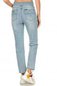 Lois Jeans |  Straight jeans with flipped waist Wendy L34 | blue  | Picture 5