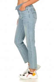 Lois Jeans |  Straight jeans with flipped waist Wendy L34 | blue  | Picture 4