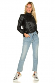 Lois Jeans |  Straight jeans with flipped waist Wendy L34 | blue  | Picture 3
