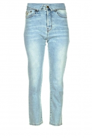 Lois Jeans |  Straight jeans with flipped waist Wendy L34 | blue  | Picture 1