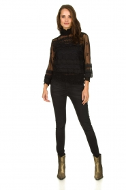 Lois Jeans |  Skinny high waist jeans Celia | black  | Picture 6