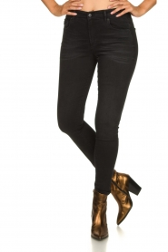 Lois Jeans |  Skinny high waist jeans Celia | black  | Picture 2