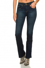 Lois Jeans |  L32 Flared jeans Melrose - Marconi dark wash | blue  | Picture 2