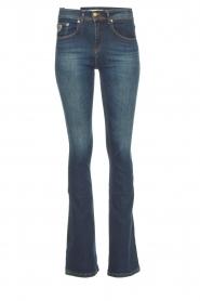 Lois Jeans |  L34 Flared jeans Melrose - Marconi dark wash | blue  | Picture 1