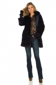 Lois Jeans |  L34 Flared jeans Melrose - Marconi dark wash | blue  | Picture 3