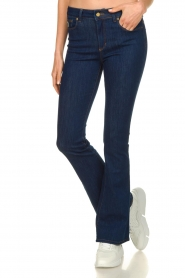 Lois Jeans |  L32 Flared jeans Melrose - Leia teal wash | dark blue  | Picture 2