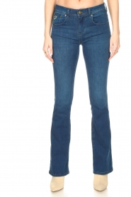 Lois Jeans |  L32 Flared jeans Melrose - Leia teal wash | dark blue  | Picture 6