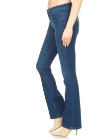 Lois Jeans |  L32 Flared jeans Melrose - Leia teal wash | dark blue  | Picture 7