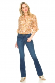 Lois Jeans |  L32 Flared jeans Melrose - Leia teal wash | dark blue  | Picture 3
