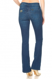 Lois Jeans |  L32 Flared jeans Melrose - Leia teal wash | dark blue  | Picture 8