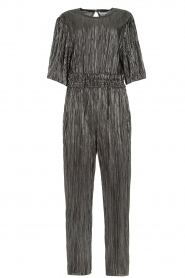 IRO |  Pleated jumpsuit with lurex Chimbotte | metallic  | Picture 1