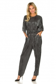 IRO |  Pleated jumpsuit with lurex Chimbotte | metallic  | Picture 2