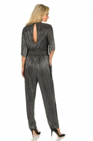 IRO |  Pleated jumpsuit with lurex Chimbotte | metallic  | Picture 5