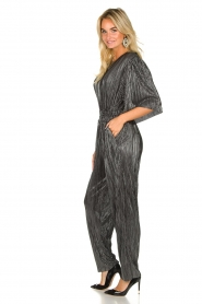 IRO |  Pleated jumpsuit with lurex Chimbotte | metallic  | Picture 4