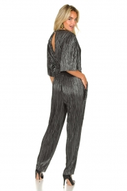 IRO |  Pleated jumpsuit with lurex Chimbotte | metallic  | Picture 6