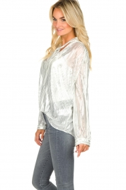 IRO |  Blouse with lurex Hathi | white  | Picture 5