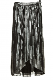 IRO | Skirt with lurex stripes Dori | metallic black  | Picture 1
