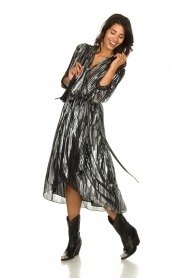 IRO | Skirt with lurex stripes Dori | metallic black  | Picture 2